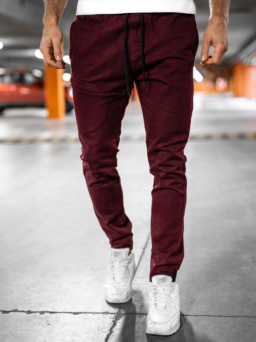 Pantaloni joggers bordo Bolf B11119
