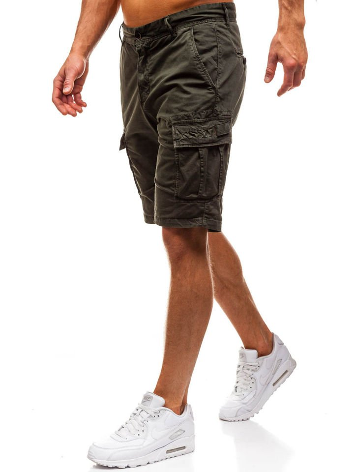 Pantaloni scurți cargo bărbați verzi Bolf 82223
