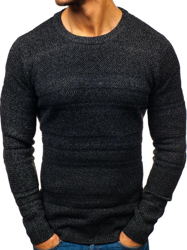 Pulover pentru bărbat negru Bolf H1805