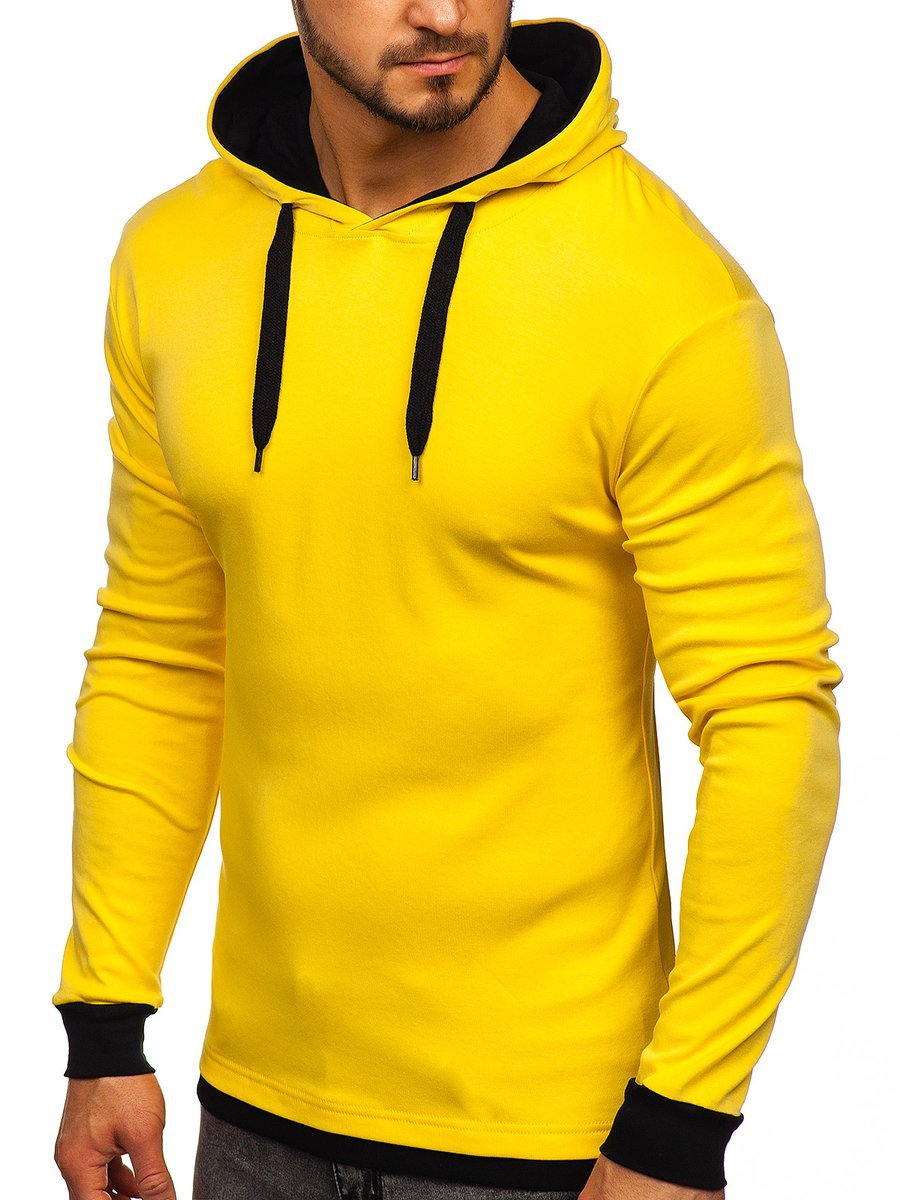 Hanorac galben bărbați Bolf 145380 imagine