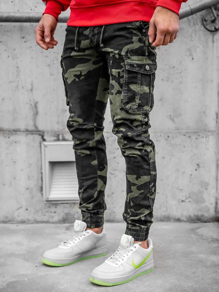 Pantaloni joggers cargo verde-deschis Bolf CT6019 imagine