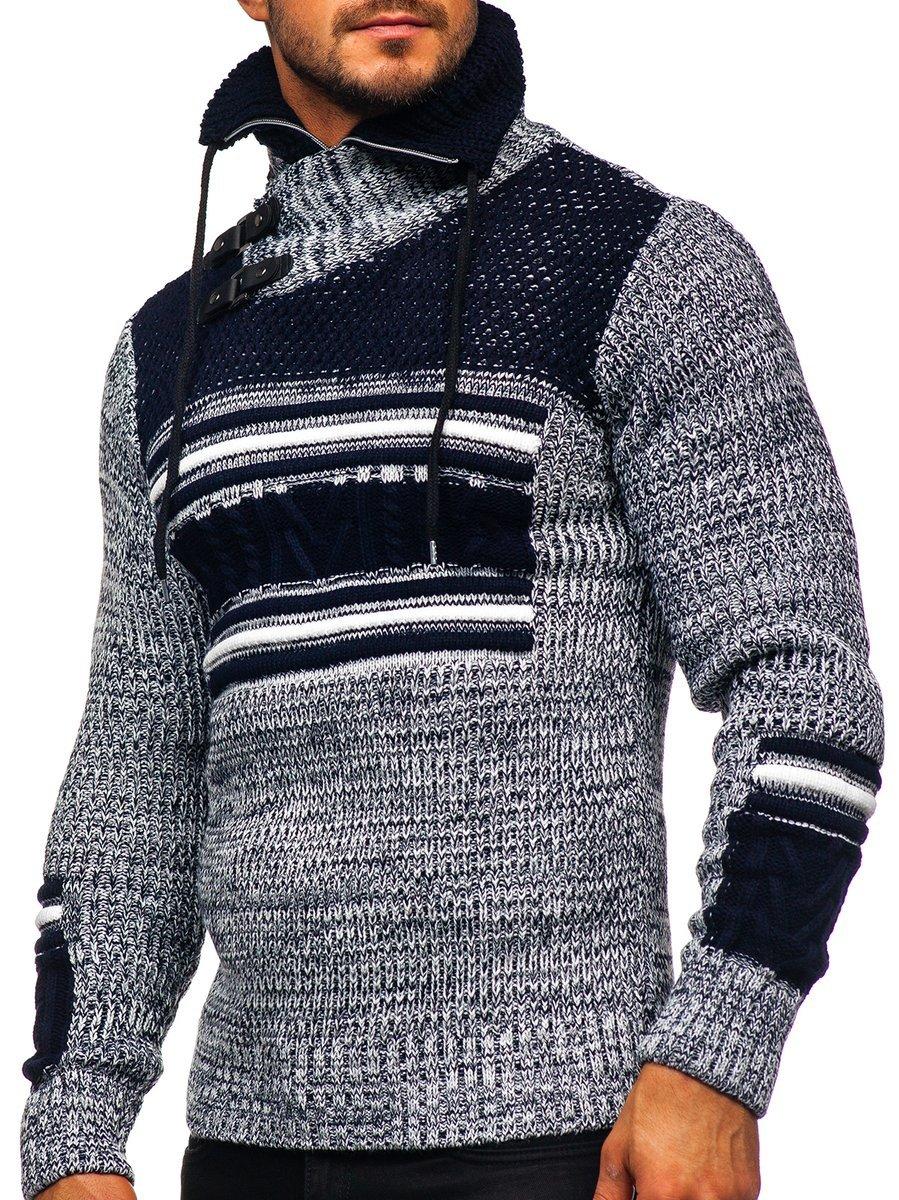 Pulover gros bleumarin Bolf 2001
