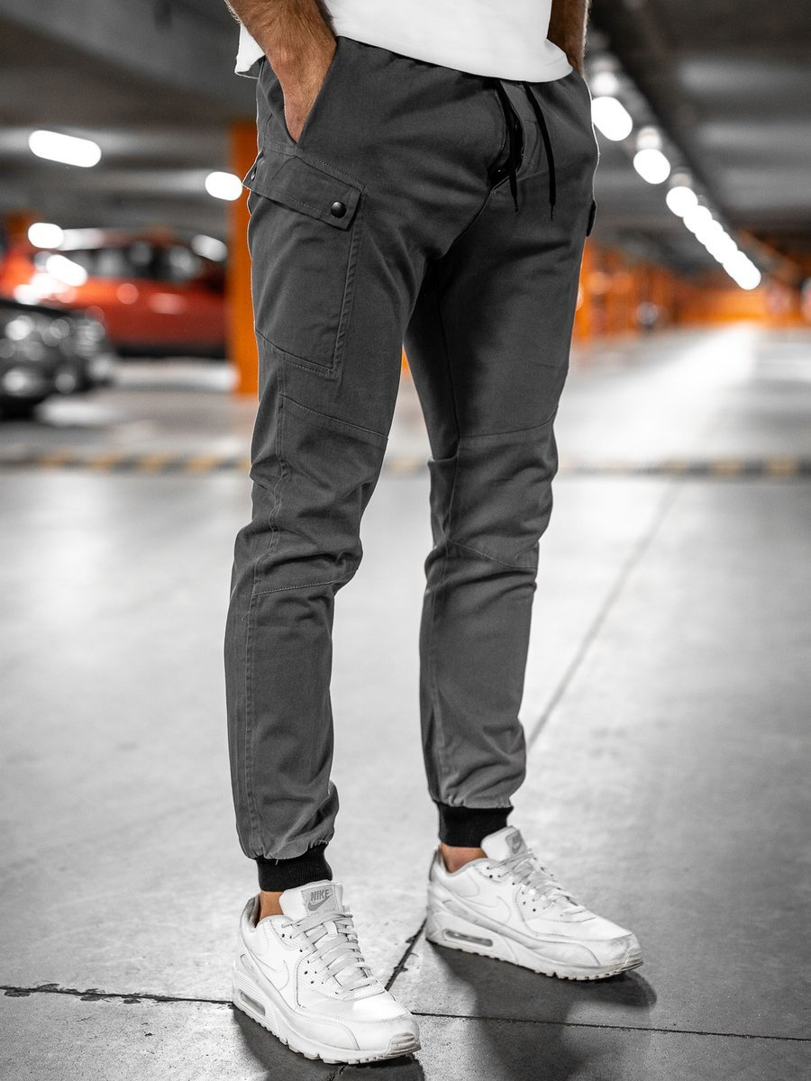 Pantaloni joggers gri Bolf B11103 imagine