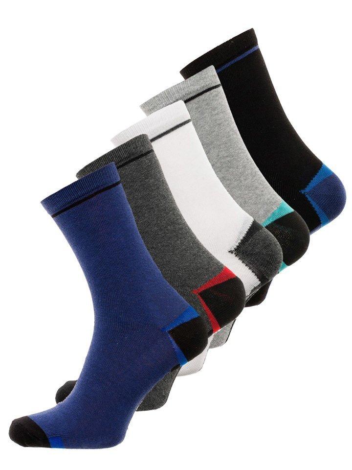 Șosete pentru bărbați multicolor Bolf X10009-5P 5 PACK