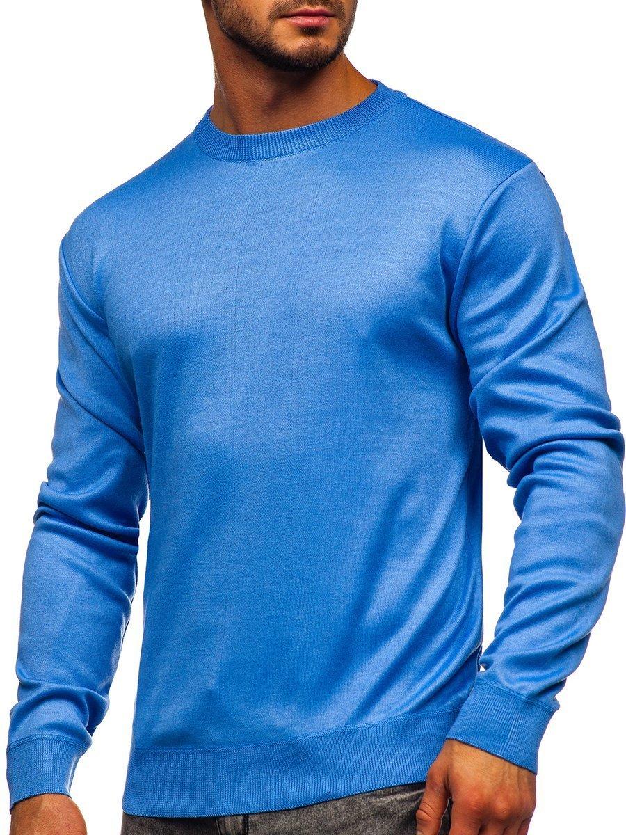 Pulover albastru bărbați Bolf GFC01 imagine