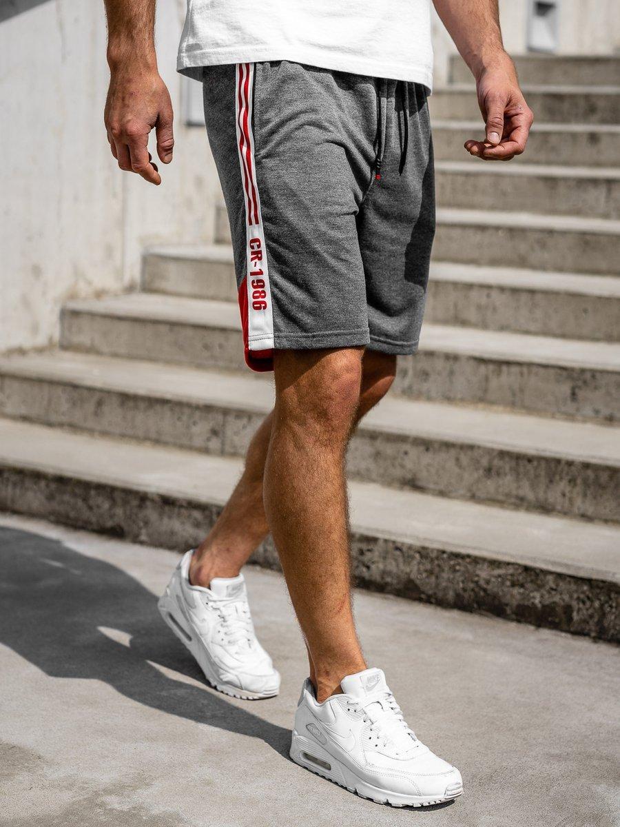 Pantaloni scurți de trening grafit Bolf KS2501 imagine