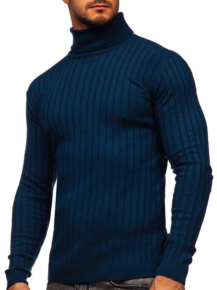 Pulover maletă albastră Bolf 520 imagine