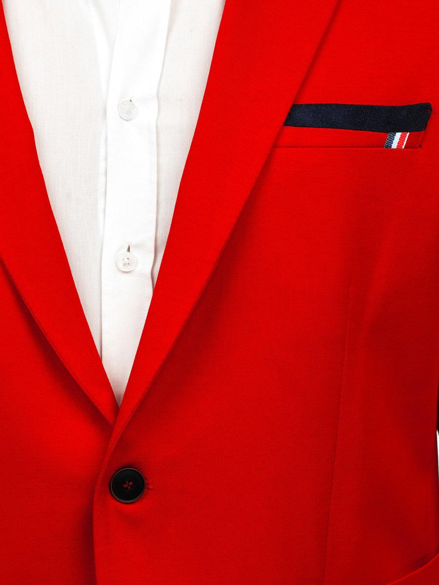 Sacou pentru bărbat casual roșu Bolf 1652 imagine