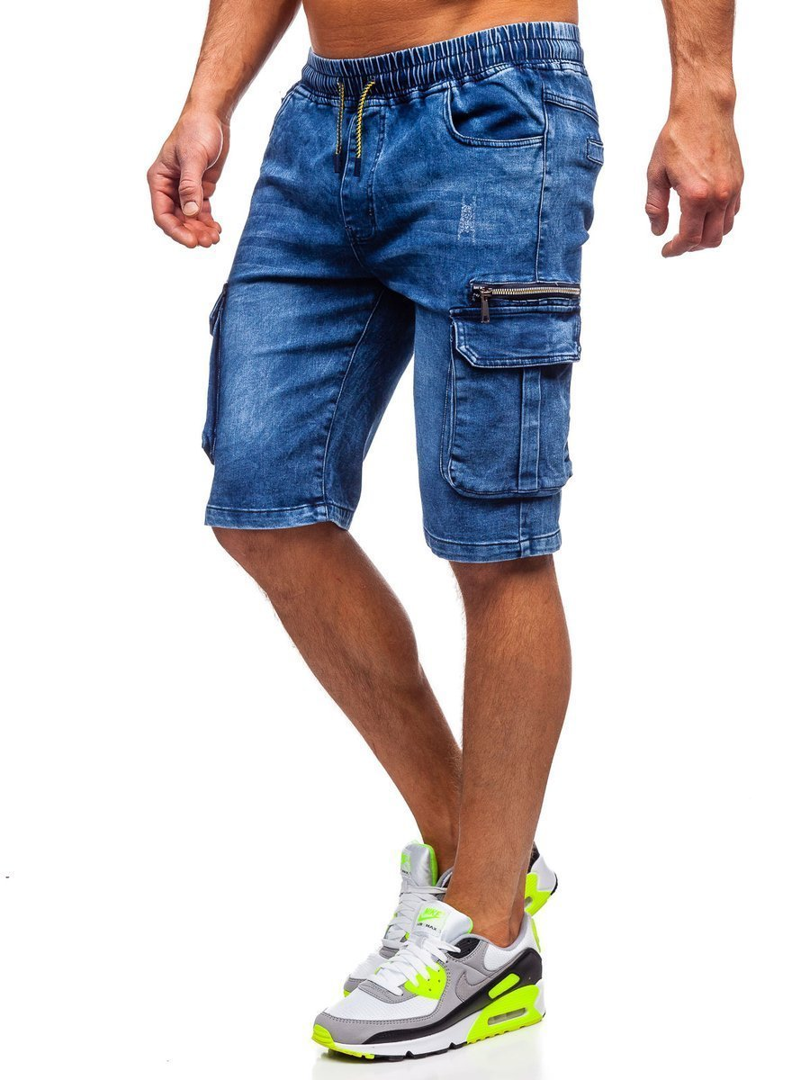Pantaloni scurți cargo bleumarin bărbati Bolf HY659 imagine