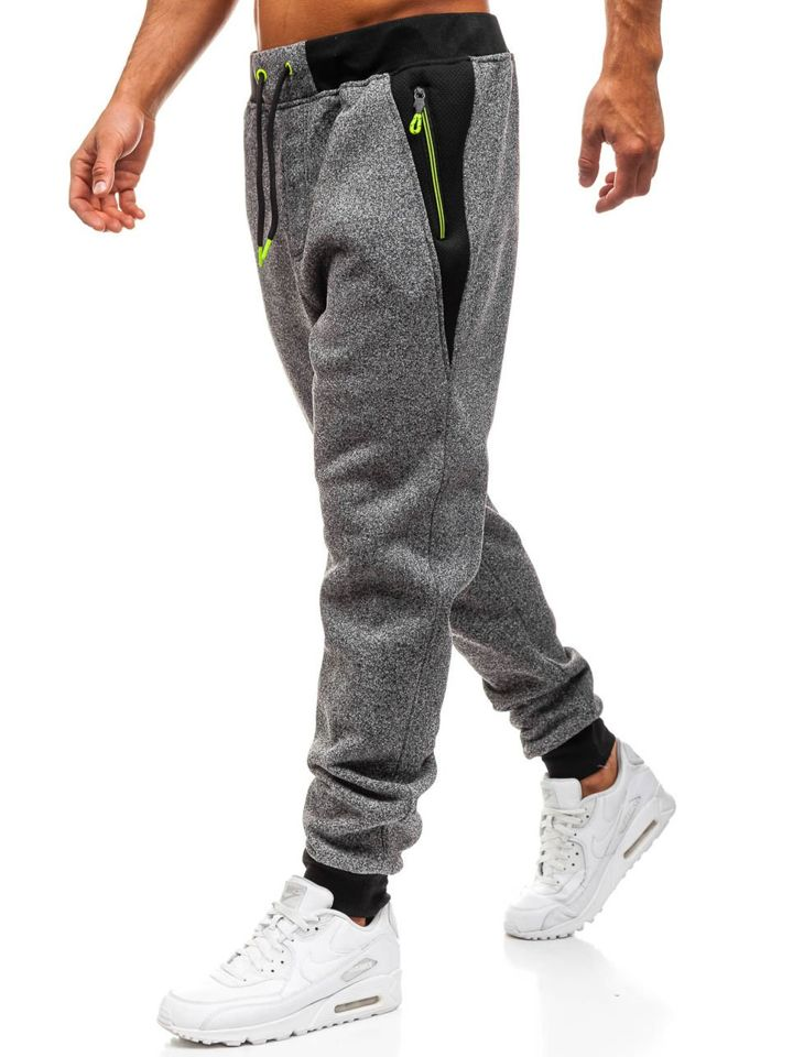 Pantaloni de trening bărbați grafit Bolf TC881