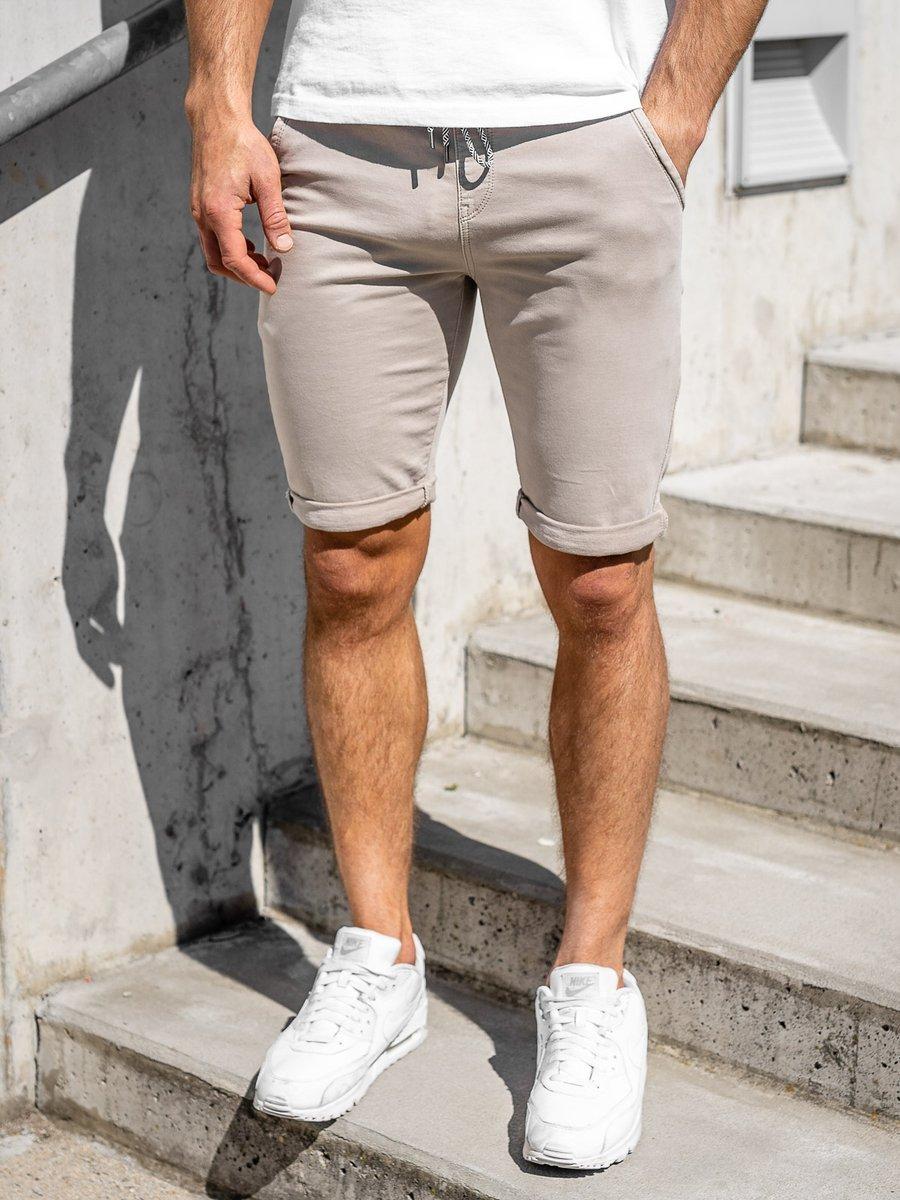 Pantaloni scurți bej bărbati Bolf KG3723 imagine