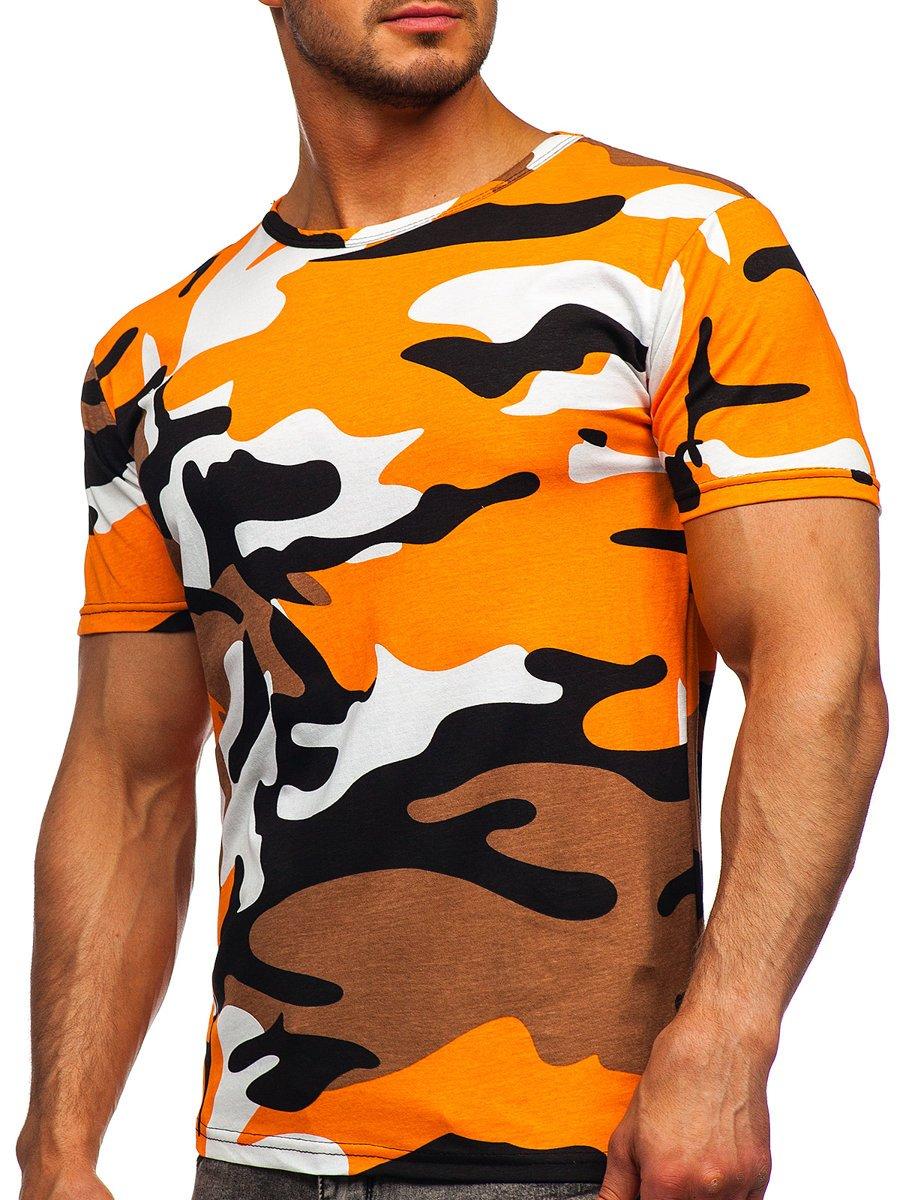 Tricou portocaliu bumbac cu imprimeu Bolf 14930