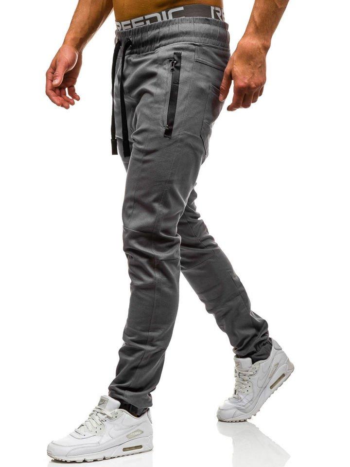 Pantaloni joggers pentru bărbat gri Bolf 0803
