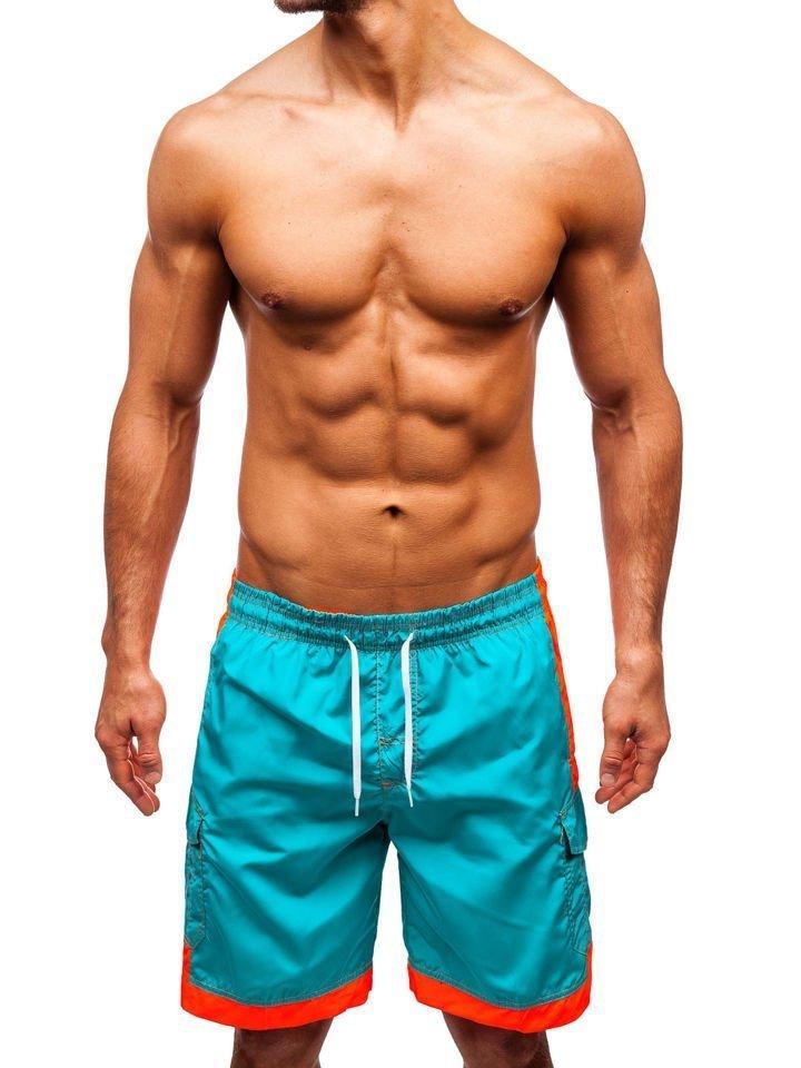 Pantaloni scurți de baie bărbați verzi Bolf 337