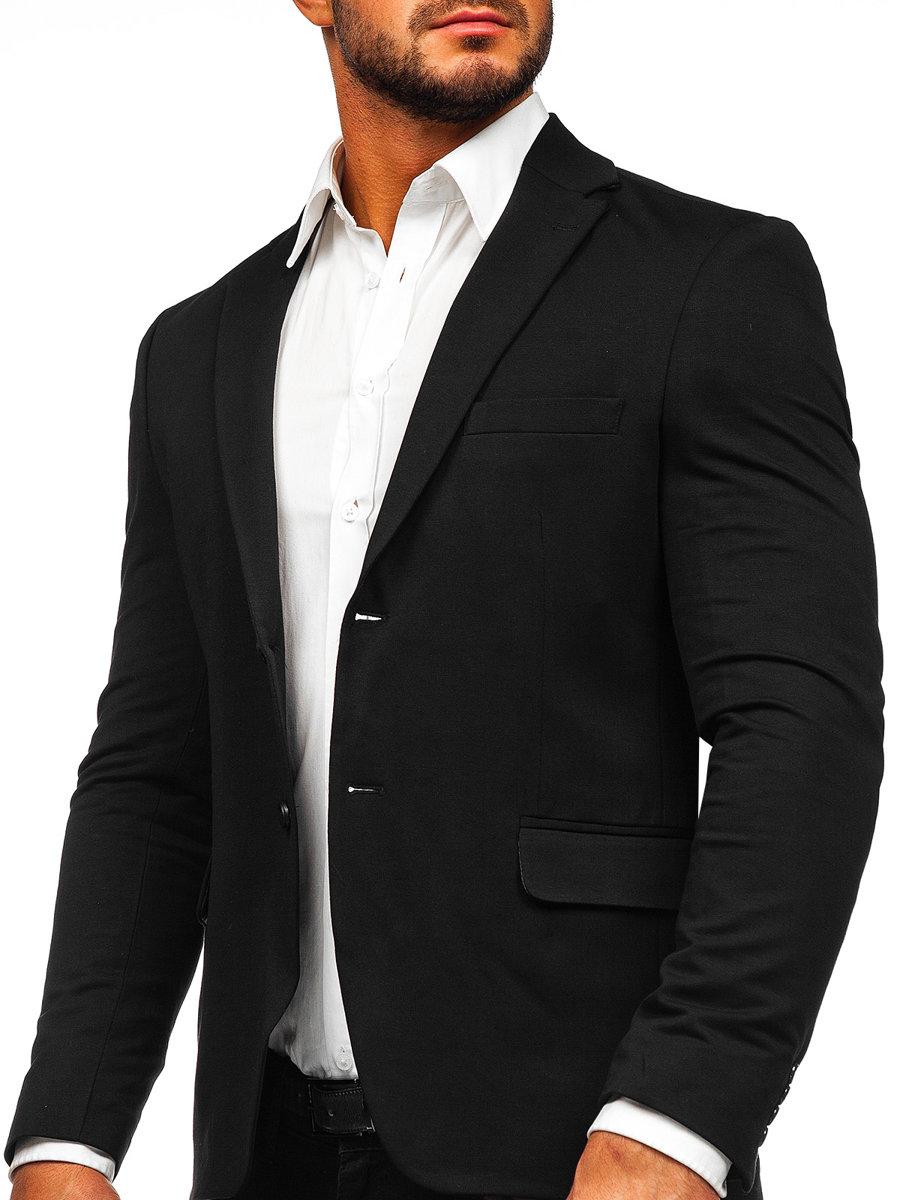 Sacou elegant bărbați negru Bolf SR2003 imagine