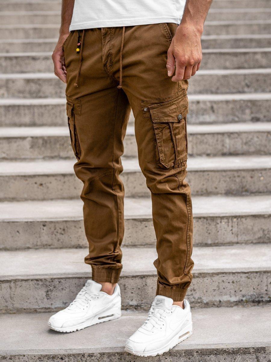 Pantaloni cargo joggers maro bărbați Bolf CT6703