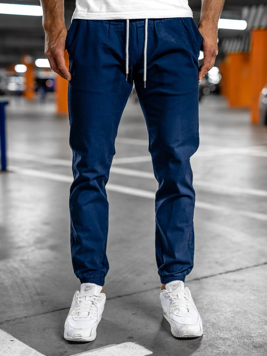 Pantaloni joggers albastru Bolf 1145 imagine