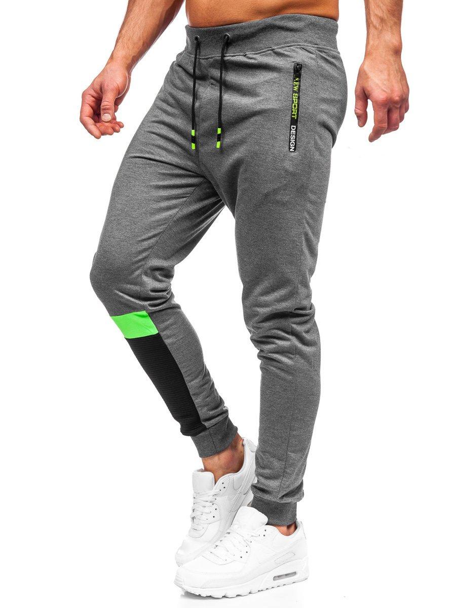 Pantaloni de trening grafit Bolf K10211