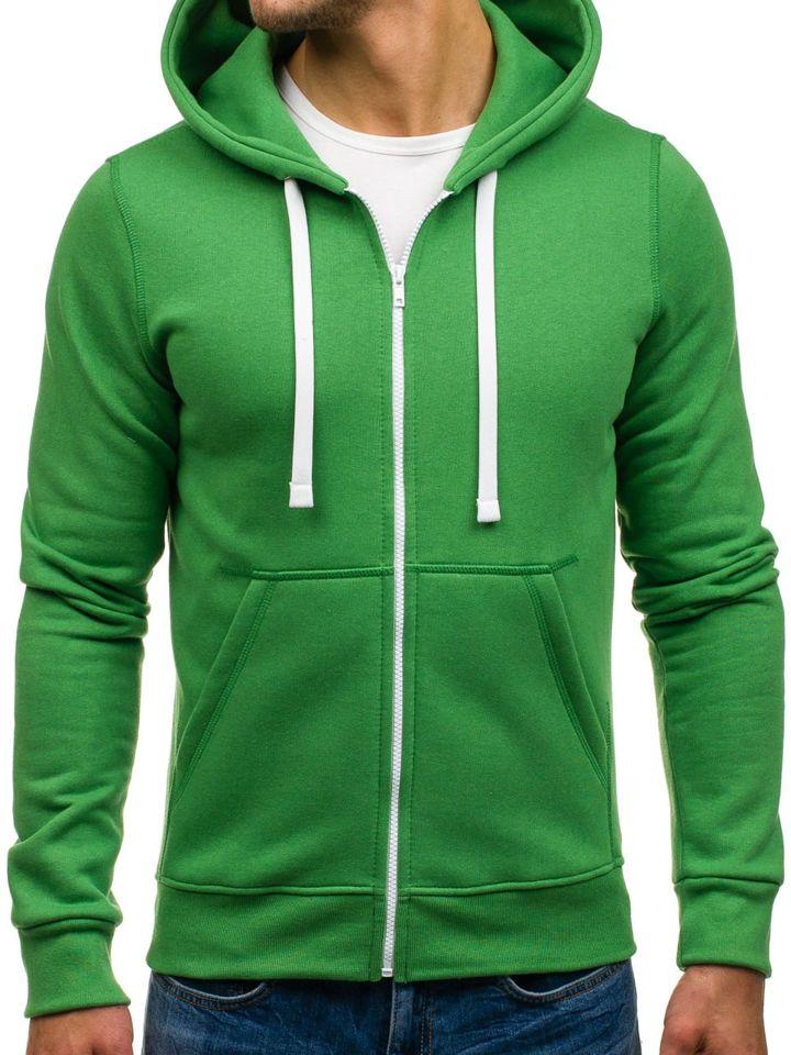 Bluză cu glugă pentru bărbat verde Bolf 03