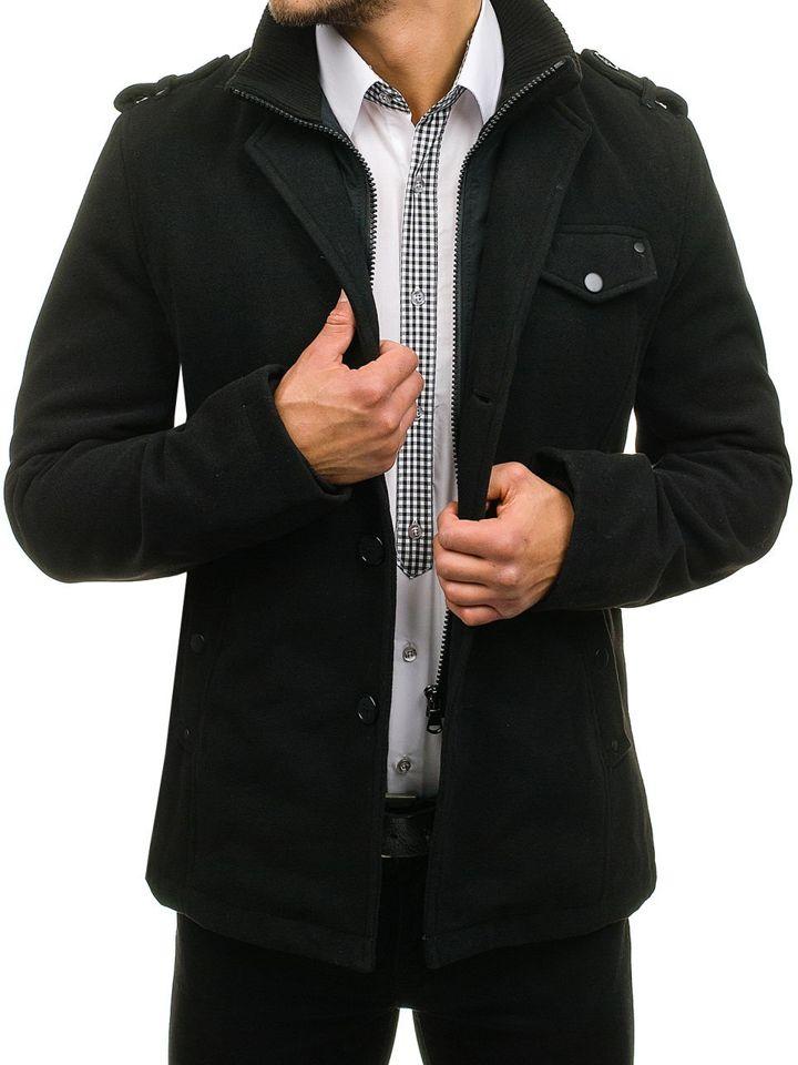 Palton pentru bărbat negru Bolf 8853A
