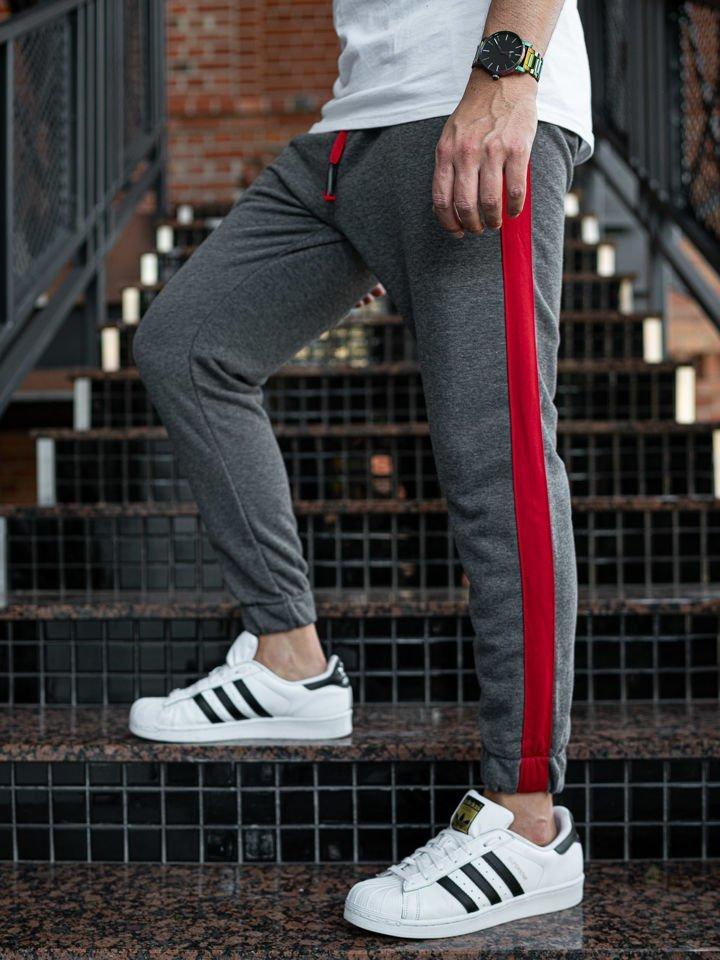 Pantaloni trening bărbați gri-antracit Bolf 11120