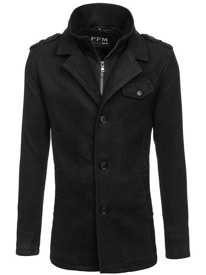 Palton de iarnă negru Bolf 8853F