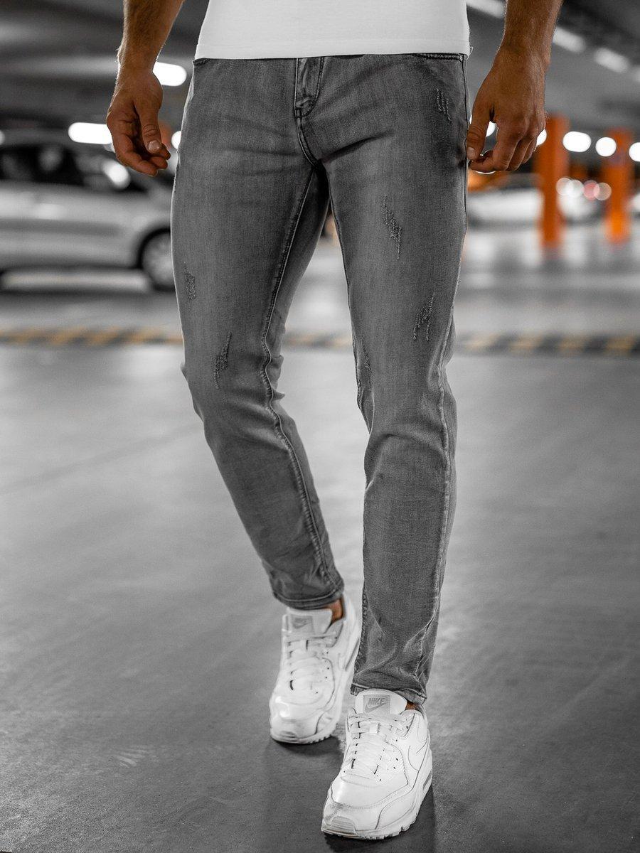 Blugi gri bărbati skinny fit Bolf KX129