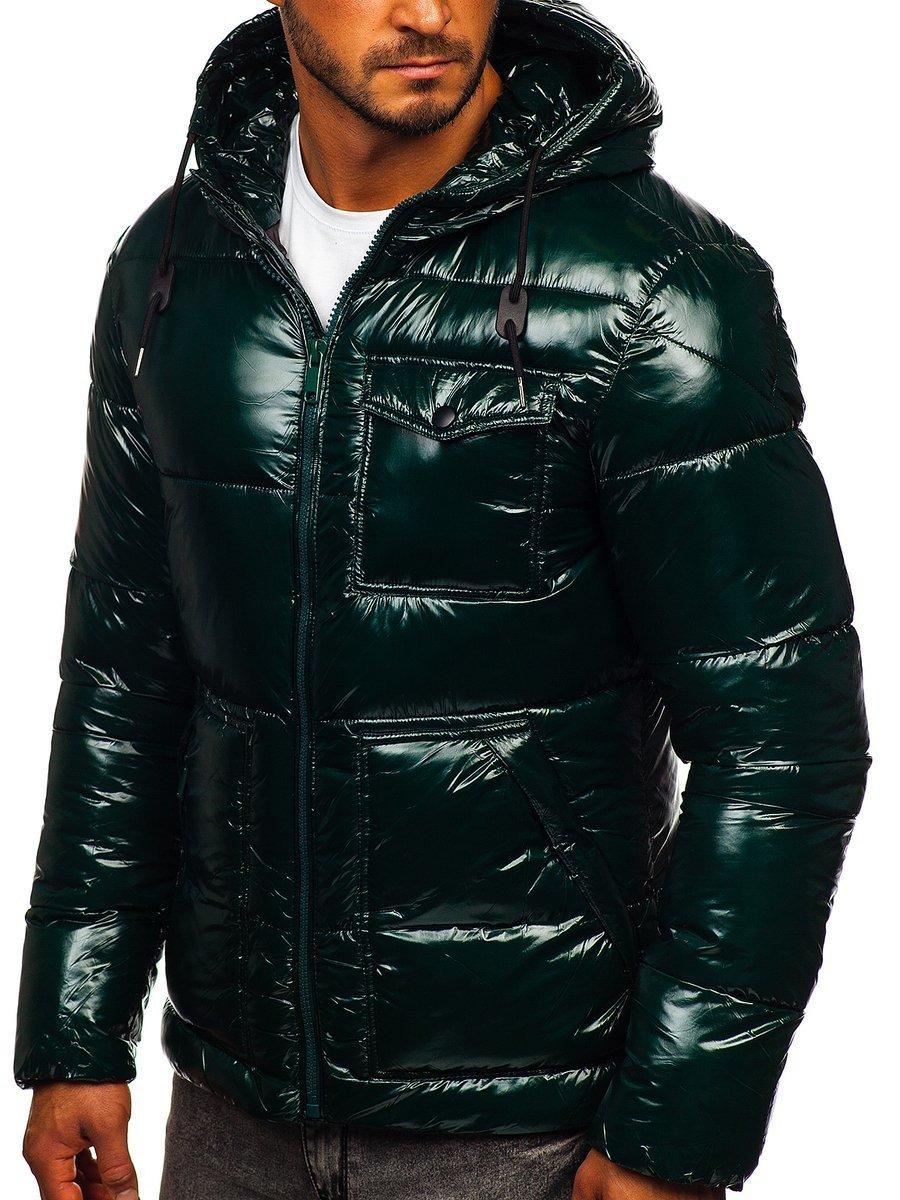 Geacă de iarnă sport matlasată verde Bolf 973 imagine
