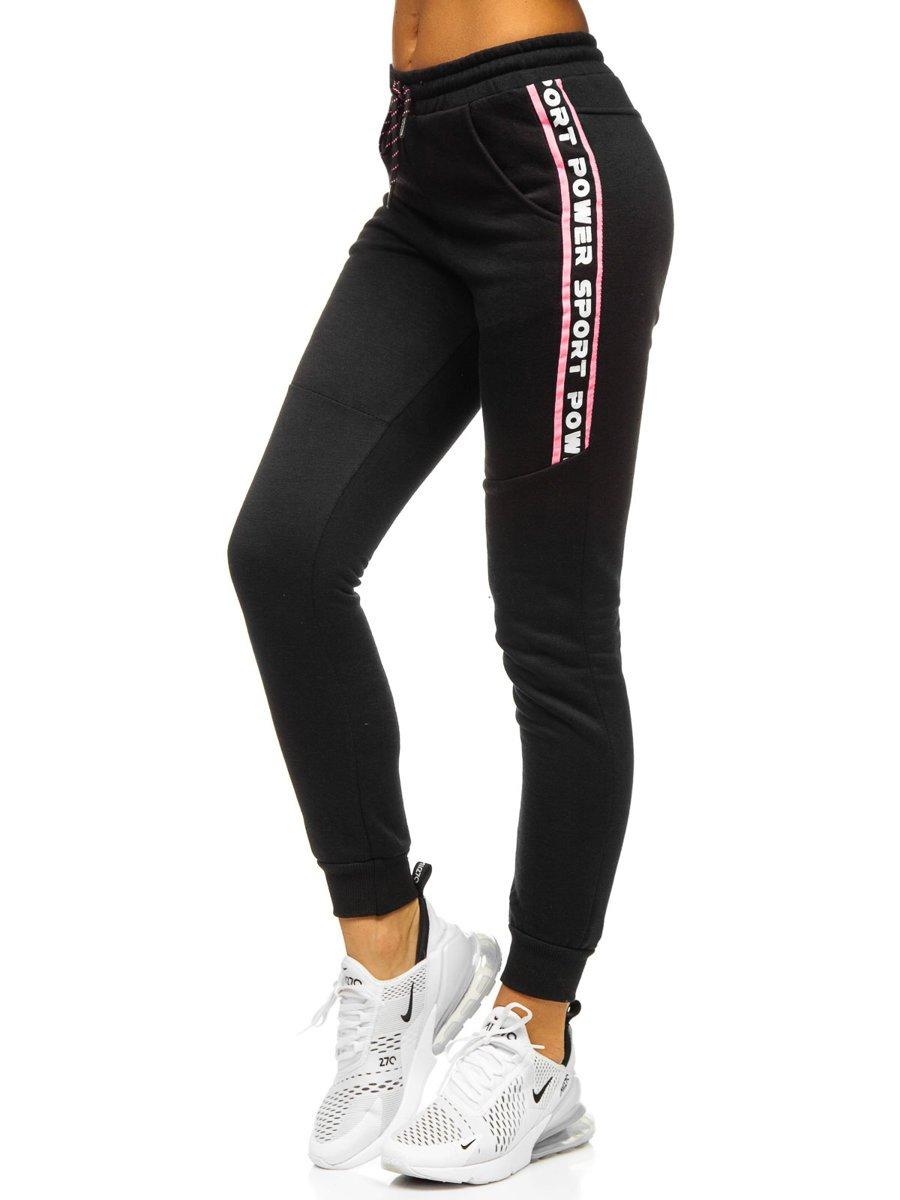 Pantaloni de trening dame negri Bolf KSW5002