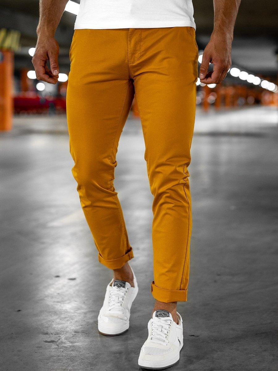 Pantaloni chinos portocaliu Bolf 1146-1 imagine