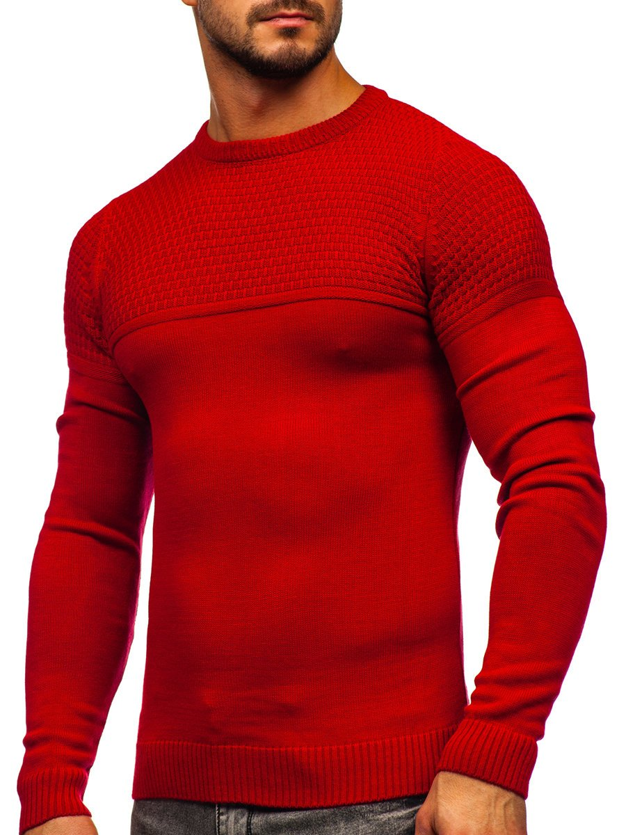 Pulover rosu bărbați Bolf 4623 imagine