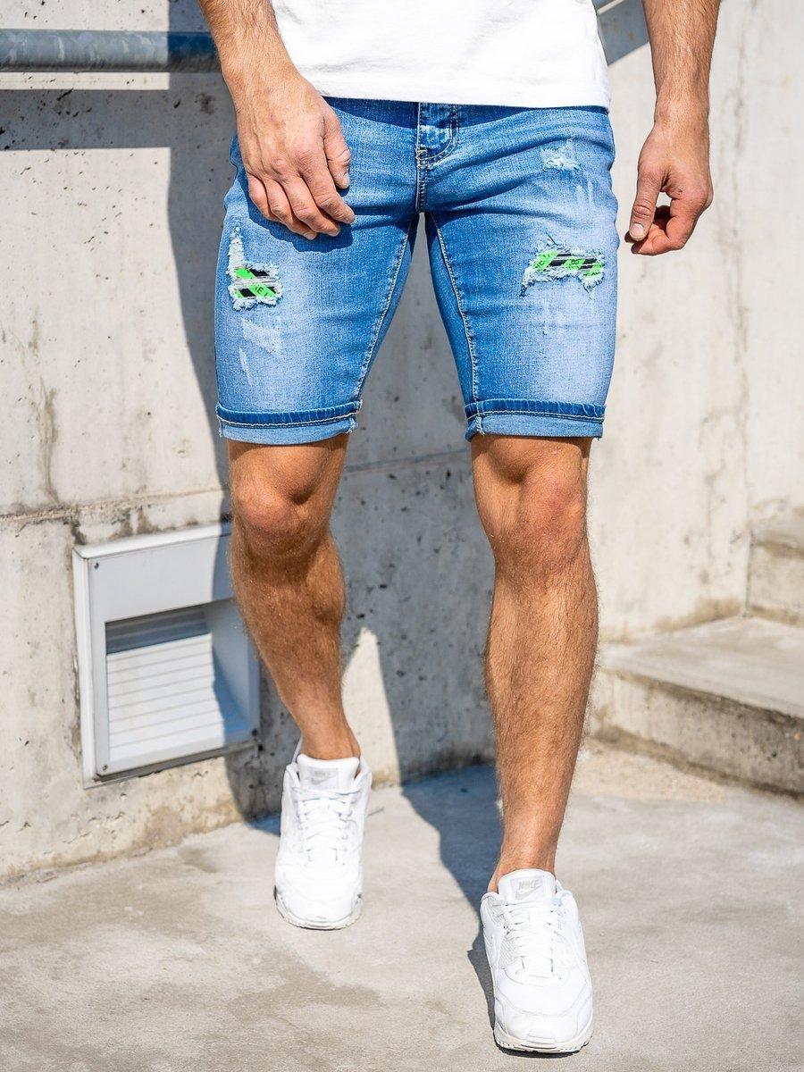 Pantaloni scurți de blugi bleumarin Bolf KG3810 imagine