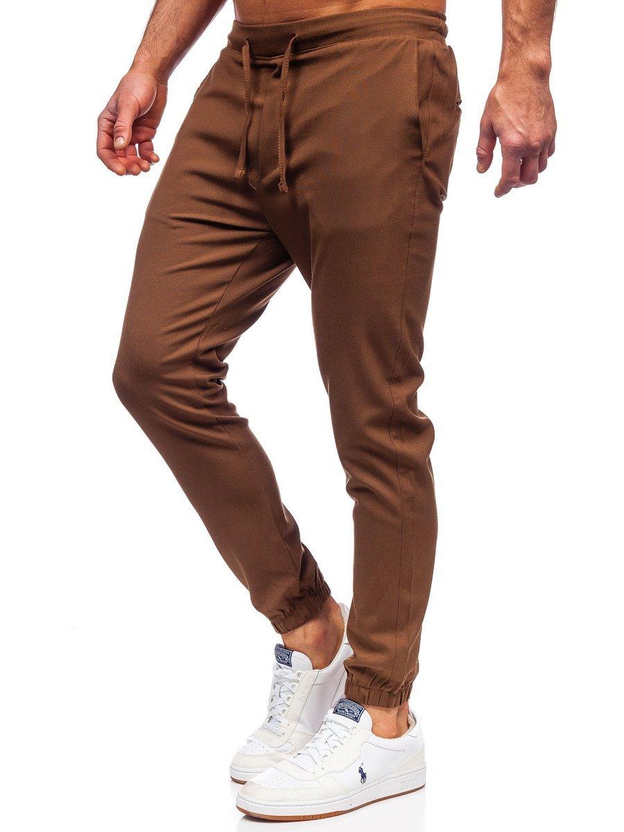 Pantaloni joggers maro Bolf 0011