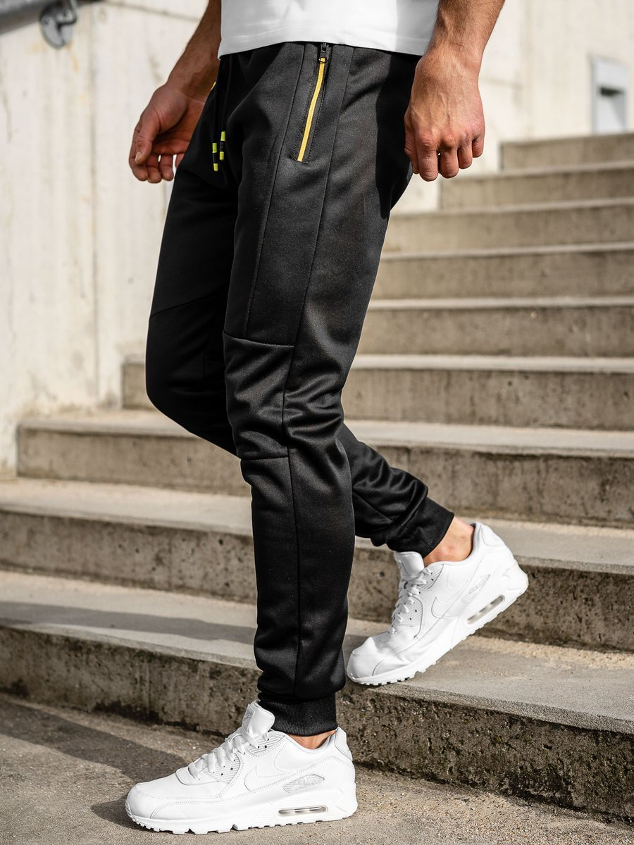 Pantaloni de trening negri Bolf K50009 imagine