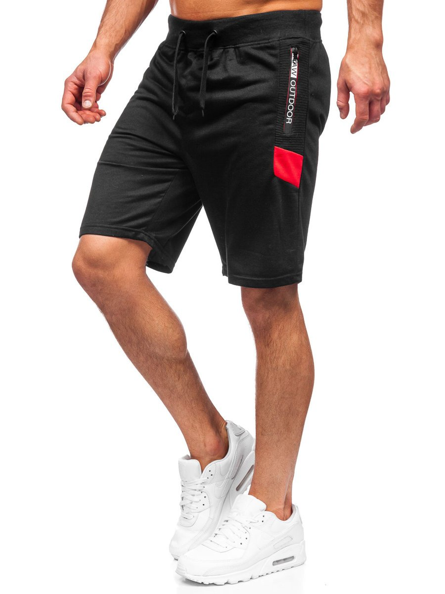 Pantaloni scurți de training negri Bolf K10272