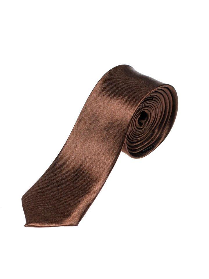 Cravată elegantă pentru bărbat maro Bolf K001