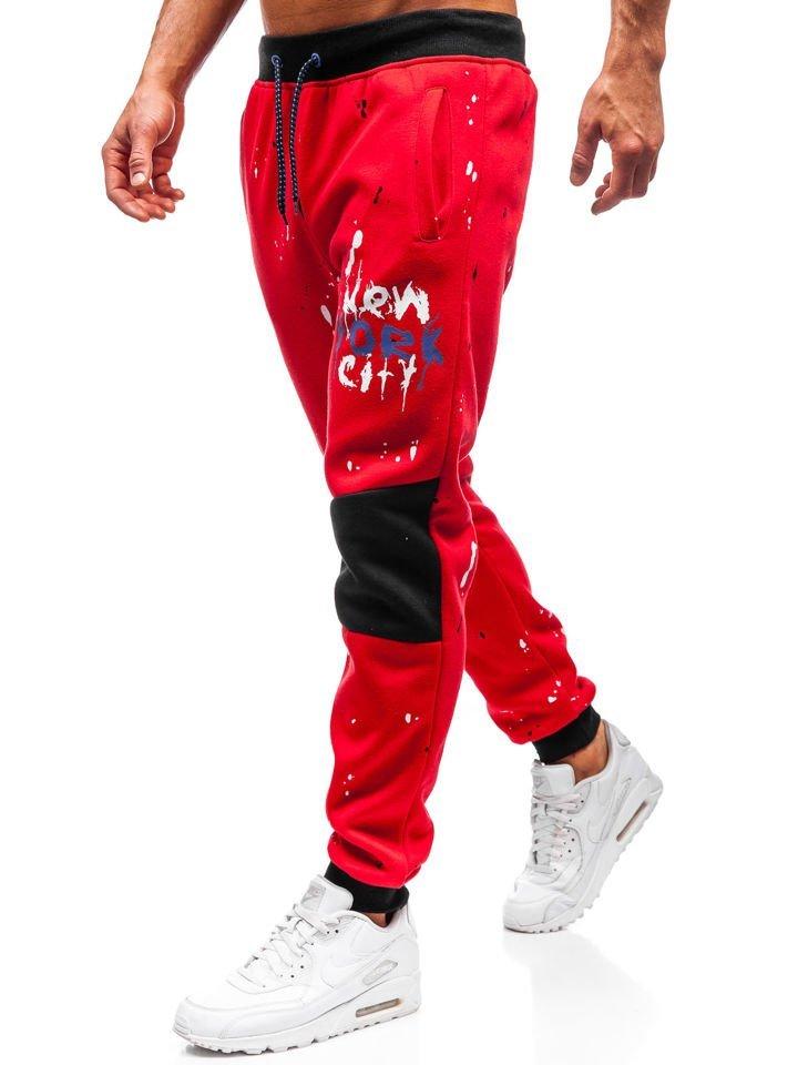 Pantaloni de trening bărbați roșu Bolf 55066