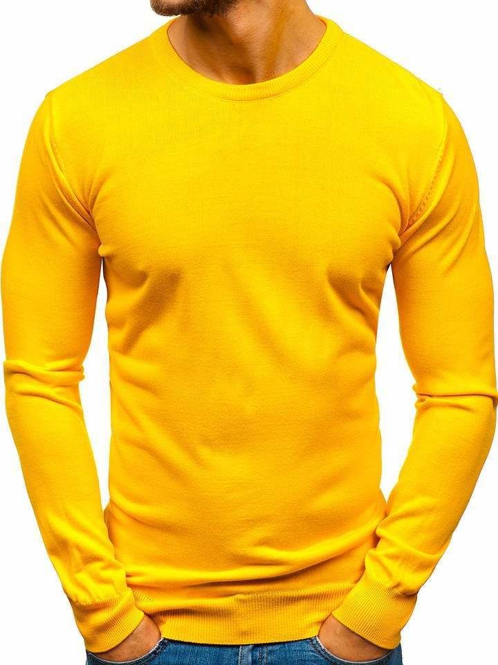 Pulover bărbați galben Bolf 2300 imagine