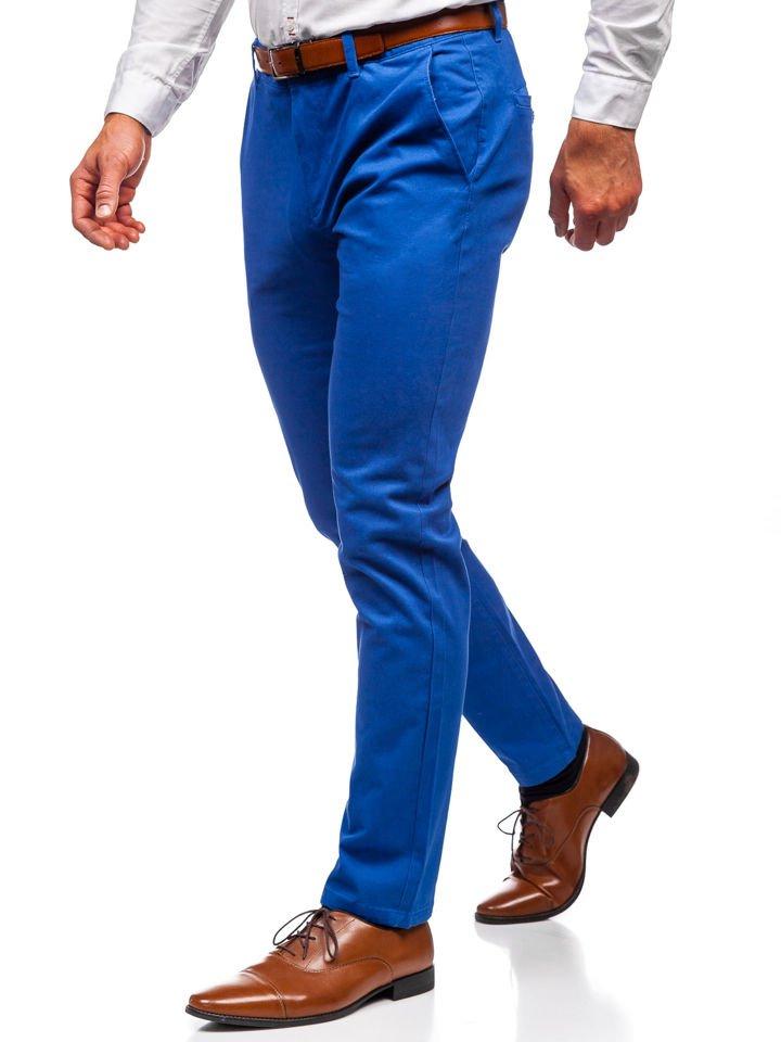 Pantaloni chino bărbați albaștri Bolf 1120
