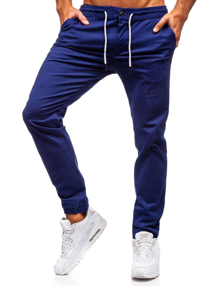Pantaloni joggers bărbați albastru-cobalt Bolf 1121 imagine