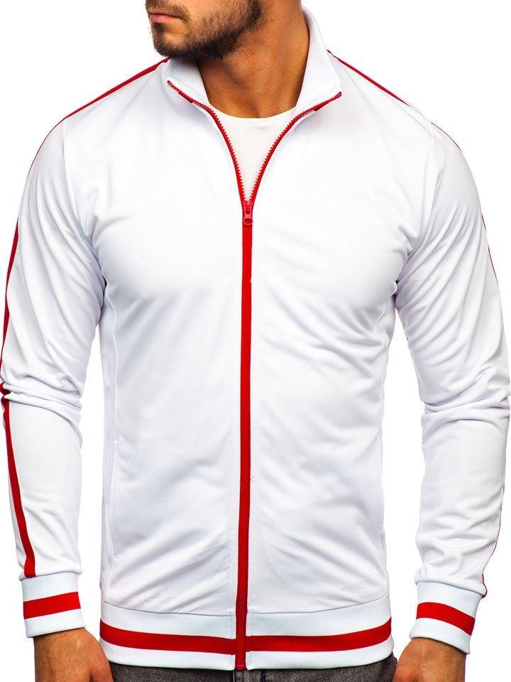 Bluză retro style cu fermoar bărbați albă Bolf 2126 imagine
