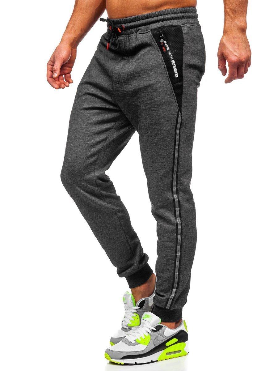Pantaloni de trening negri Bolf TC1003