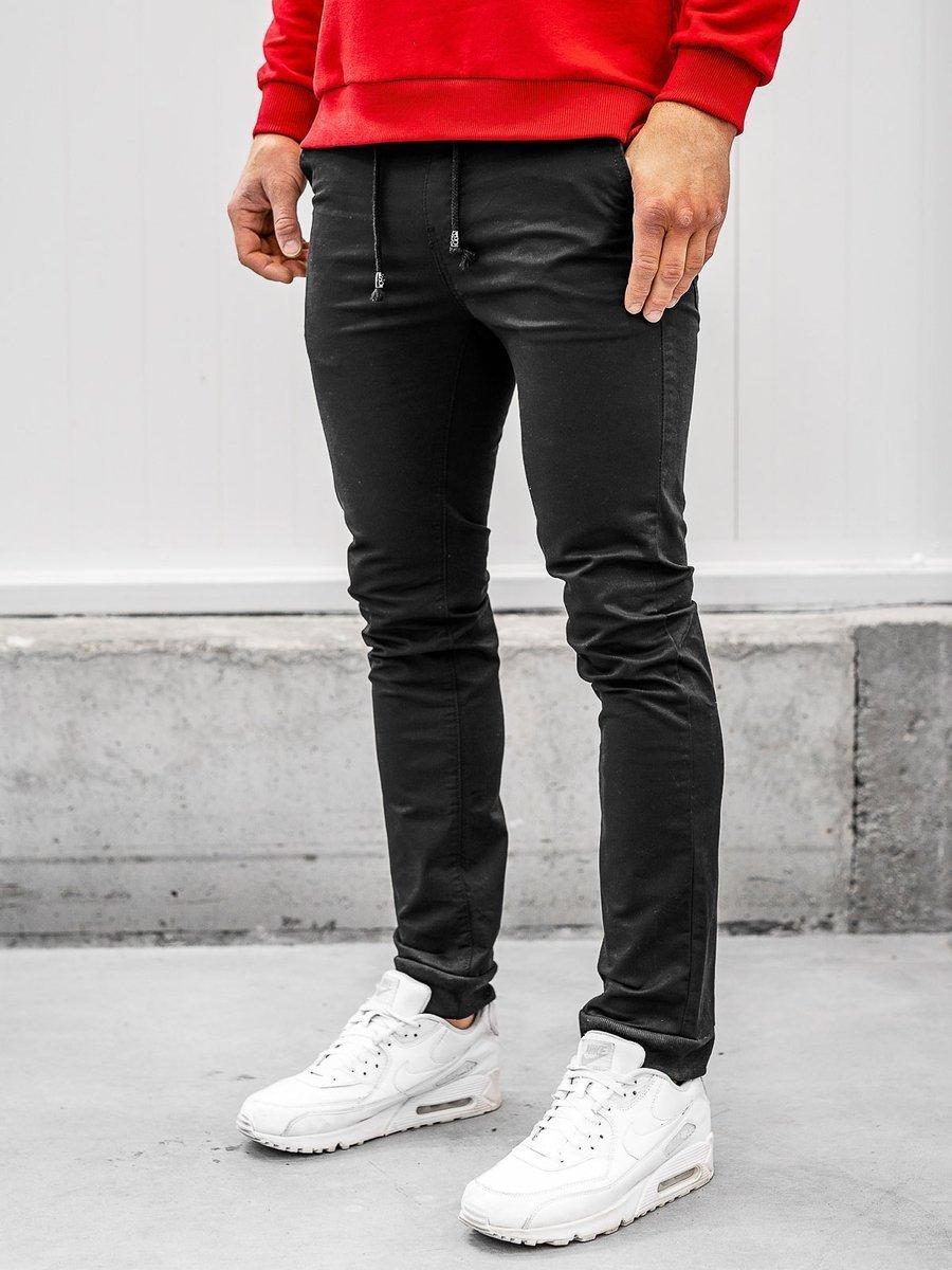 Pantaloni joggers negri Bolf KA8877 imagine