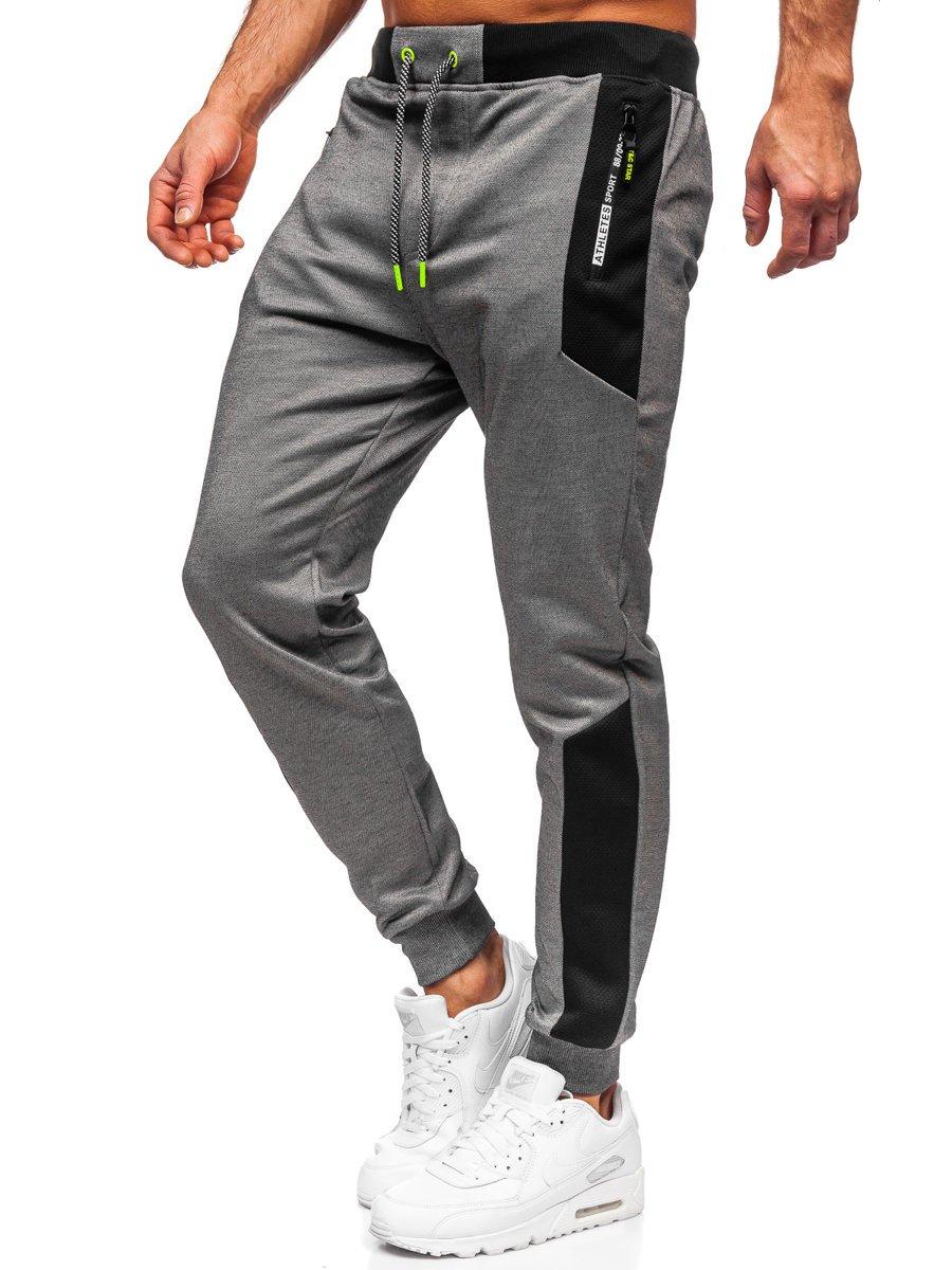 Pantaloni de trening grafit Bolf Q1093