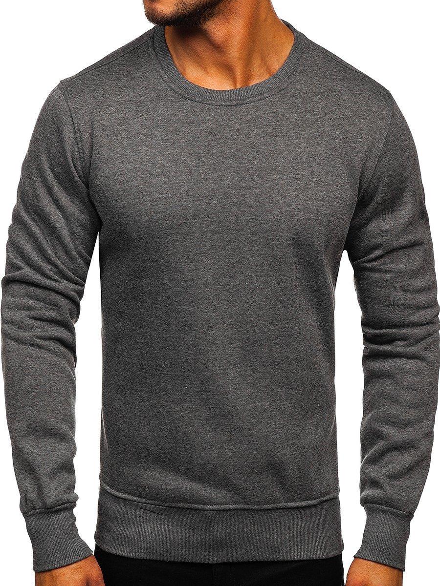 Bluză fără glugă pentru bărbat gri-antracit Bolf BO-01