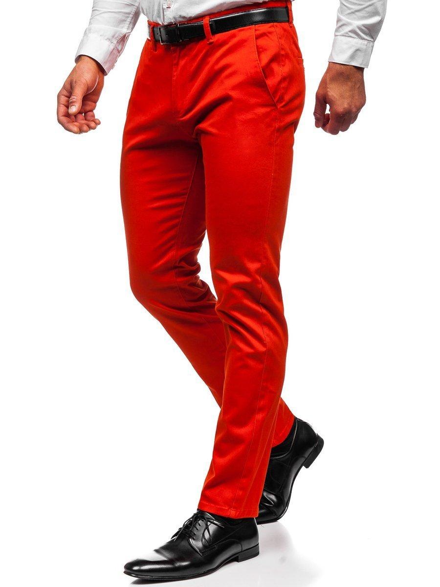 Pantaloni chinos portocaliu-închis bărbati Bolf 1143 imagine