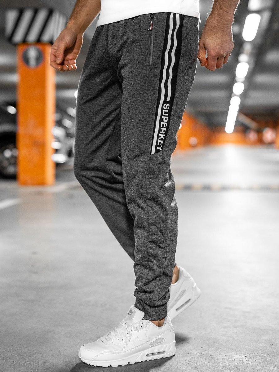 Pantaloni de trening grafit Bolf JX1058 imagine