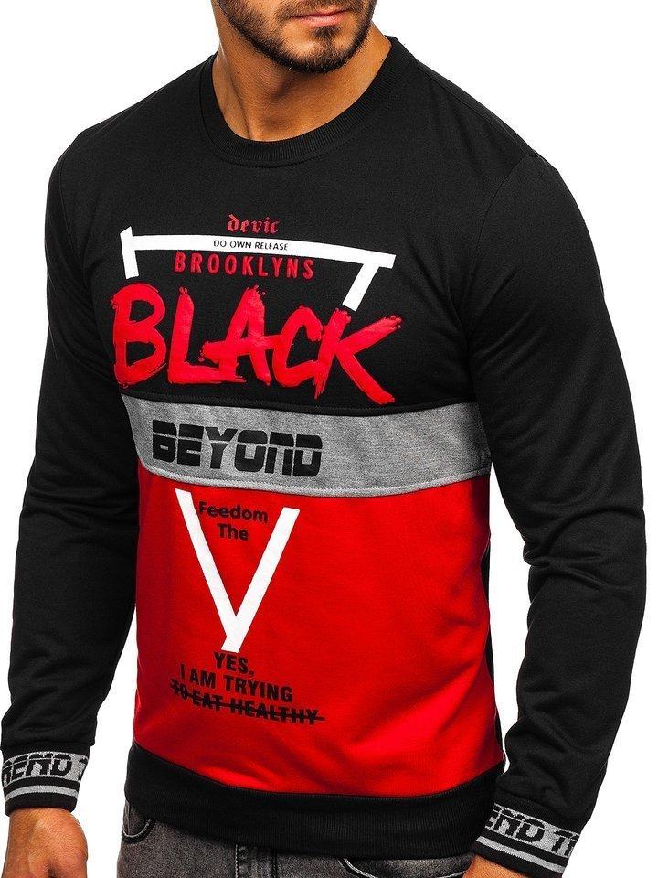 Bluza cu imprimeu bărbati rosie Bolf HY550