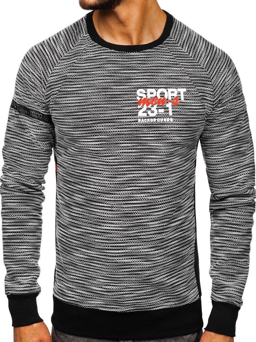 Bluză cu imprimeu bărbați gri Bolf DD713 imagine