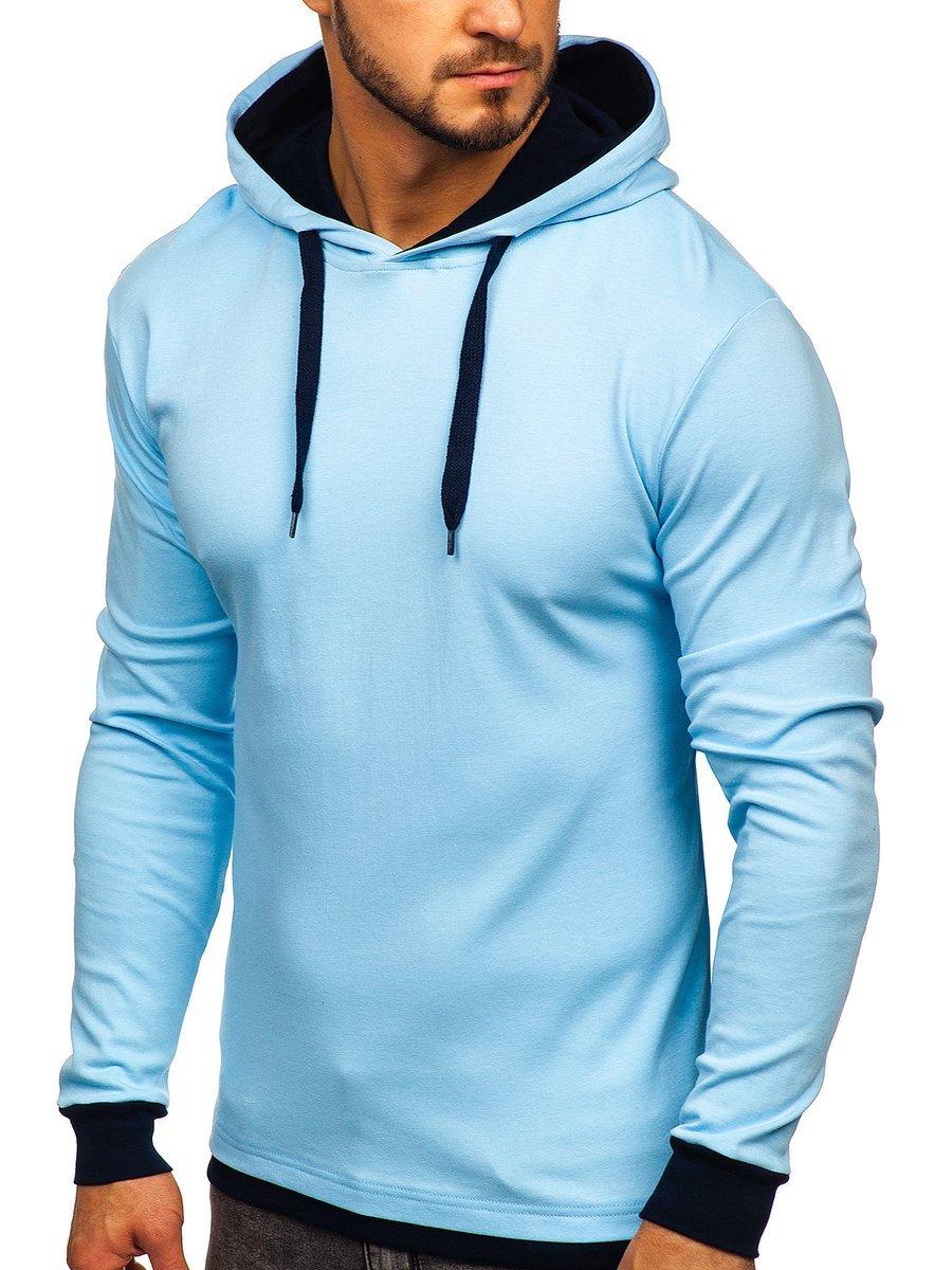 Hanorac albastru bărbați Bolf 145380